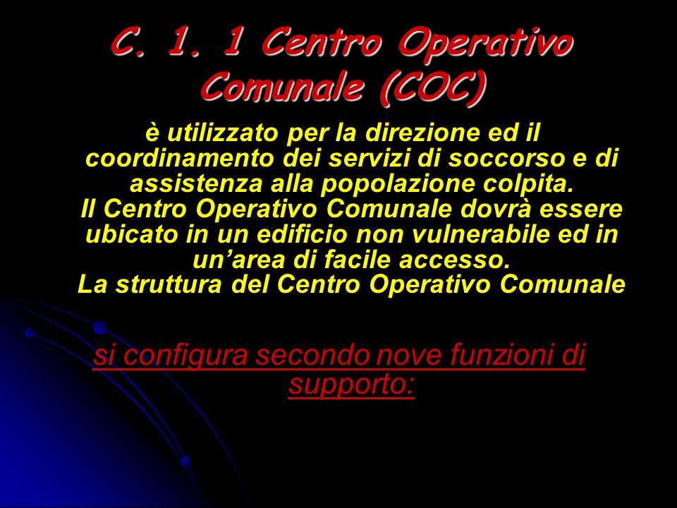 C. 1. 1 Centro Operativo Comunale (COC)