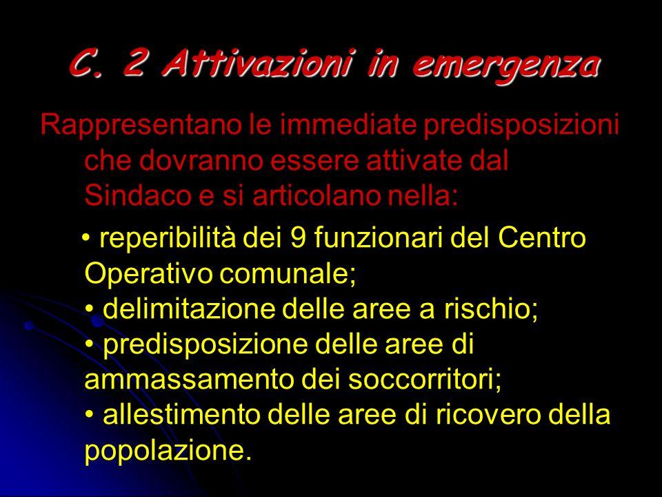 C. 2 Attivazioni in emergenza