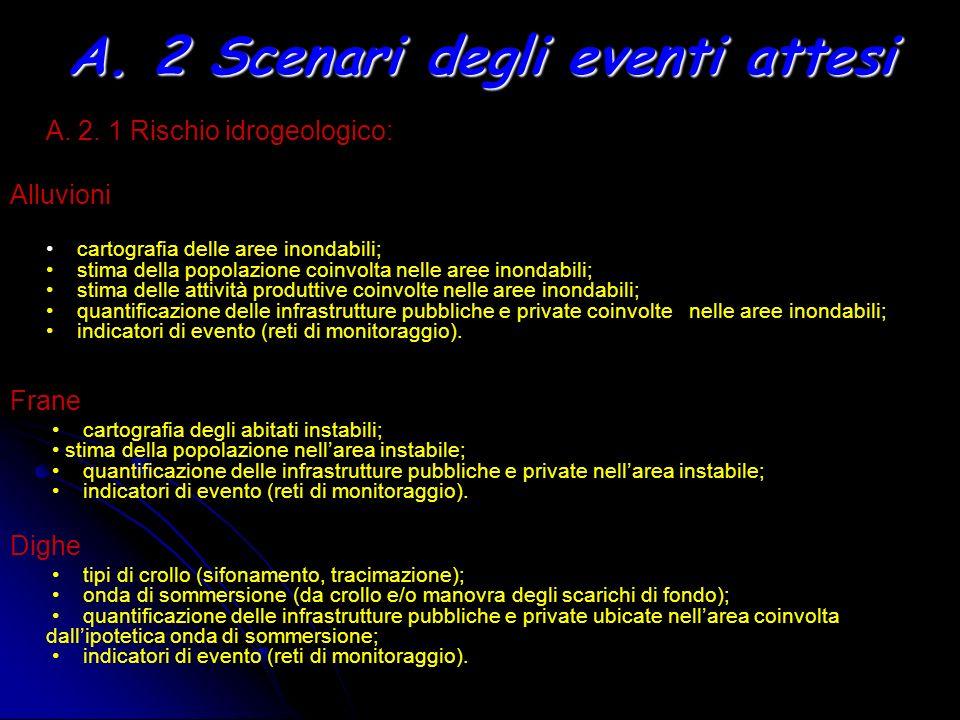 A. 2 Scenari degli eventi attesi
