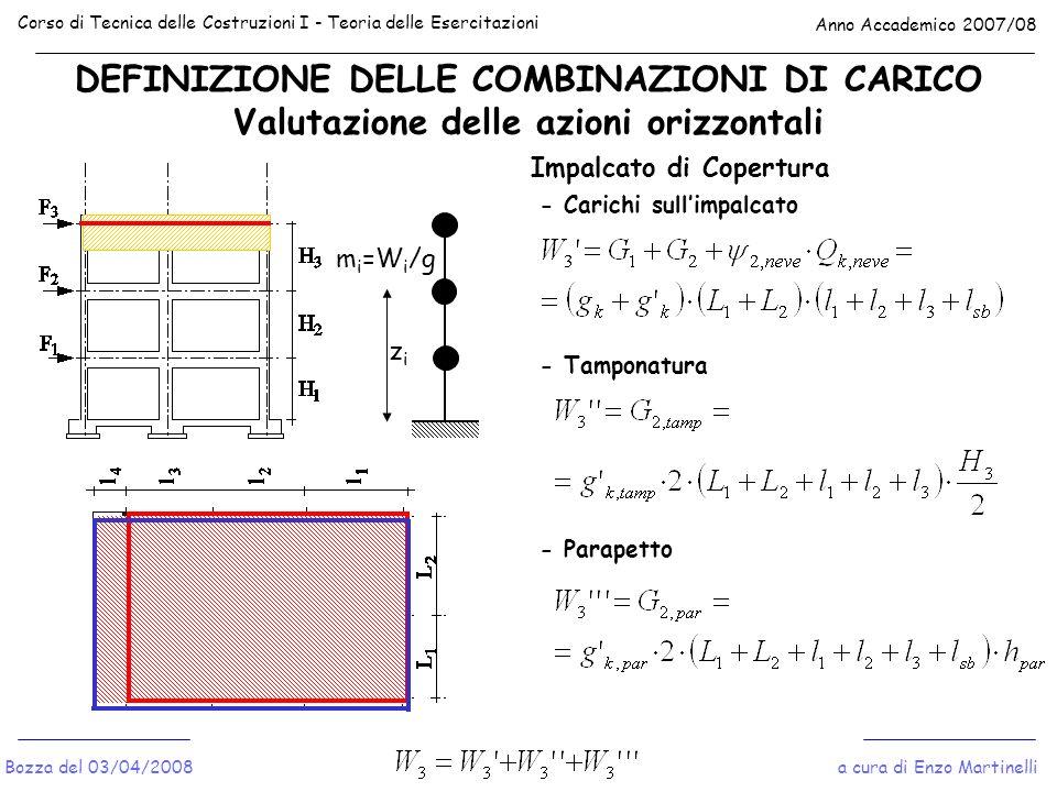 Corso di Tecnica delle Costruzioni I - Teoria delle Esercitazioni