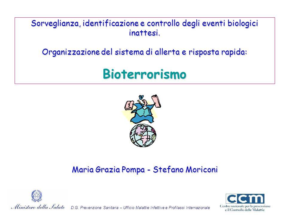Sorveglianza, identificazione e controllo degli eventi biologici inattesi. Organizzazione del sistema di allerta e risposta rapida: