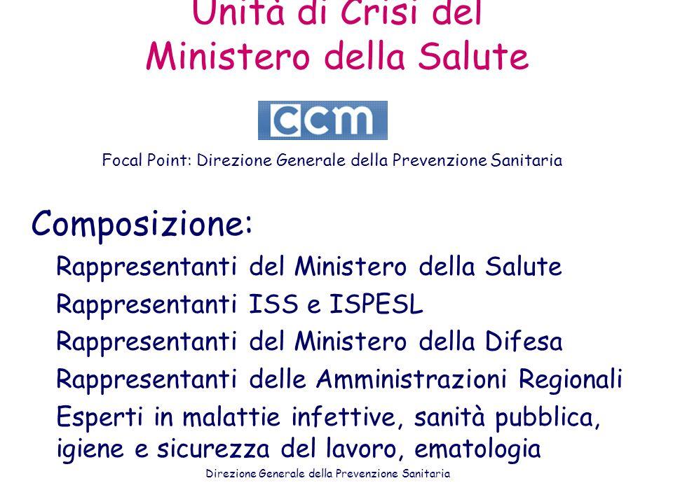 Unità di Crisi del Ministero della Salute