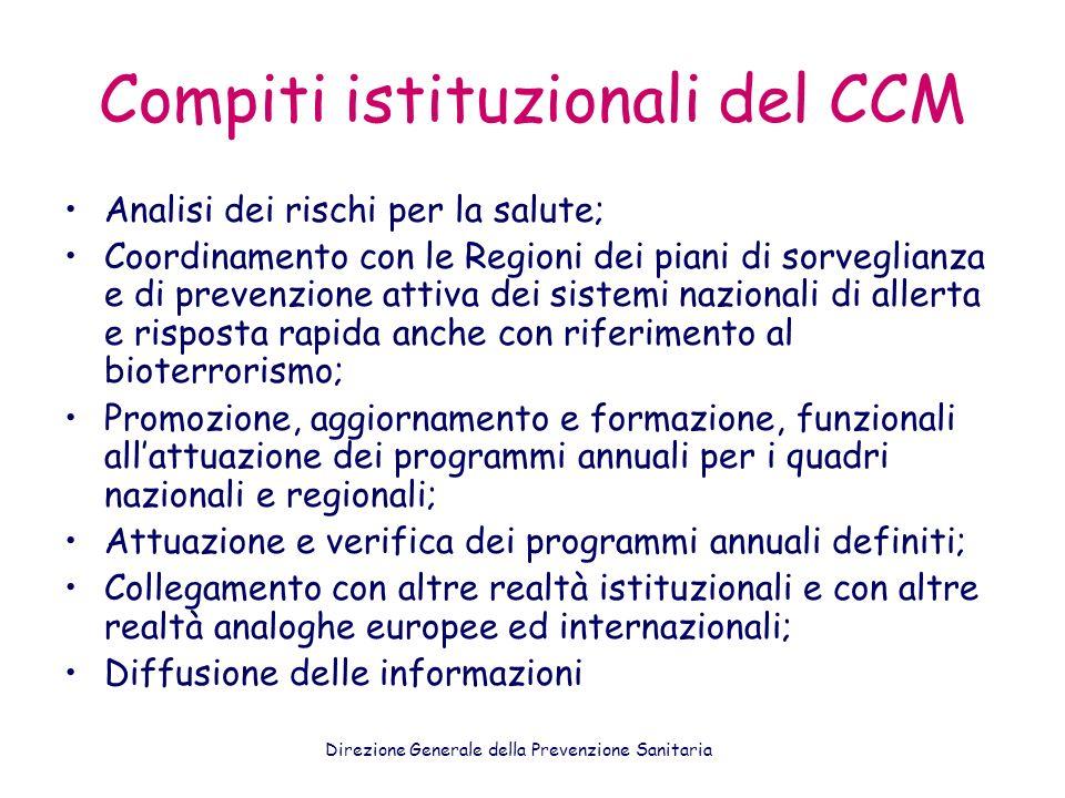 Compiti istituzionali del CCM