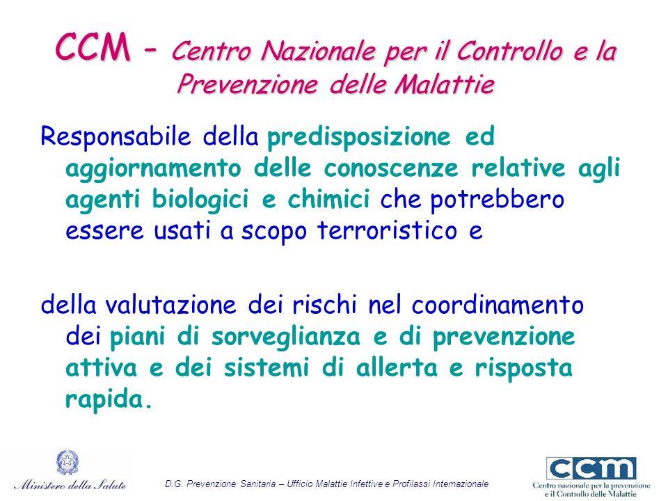 CCM - Centro Nazionale per il Controllo e la Prevenzione delle Malattie