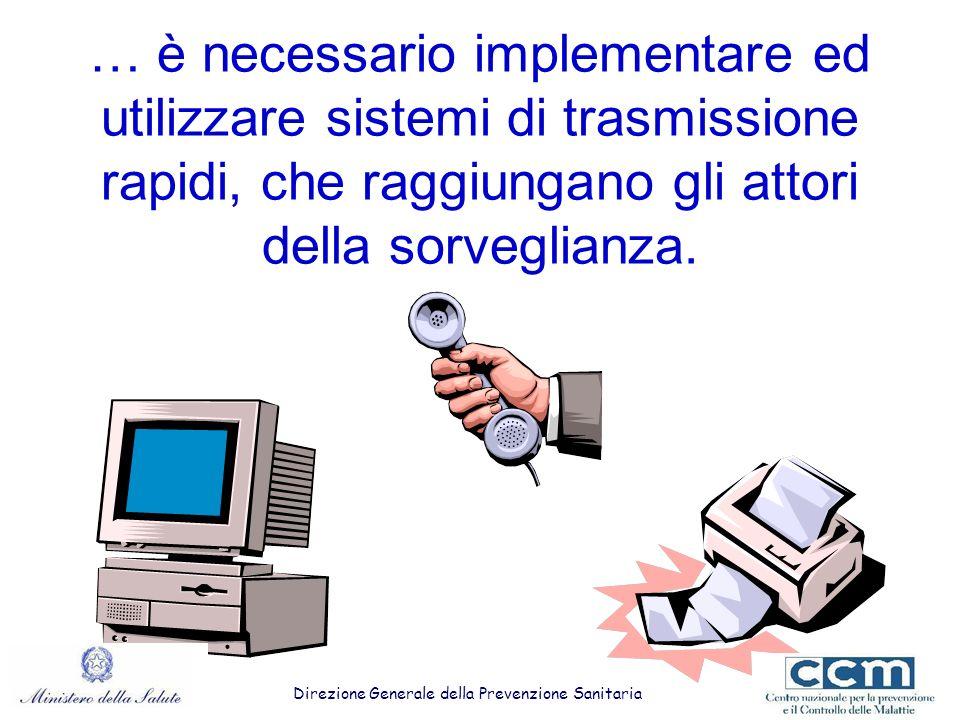 … è necessario implementare ed utilizzare sistemi di trasmissione rapidi, che raggiungano gli attori della sorveglianza.