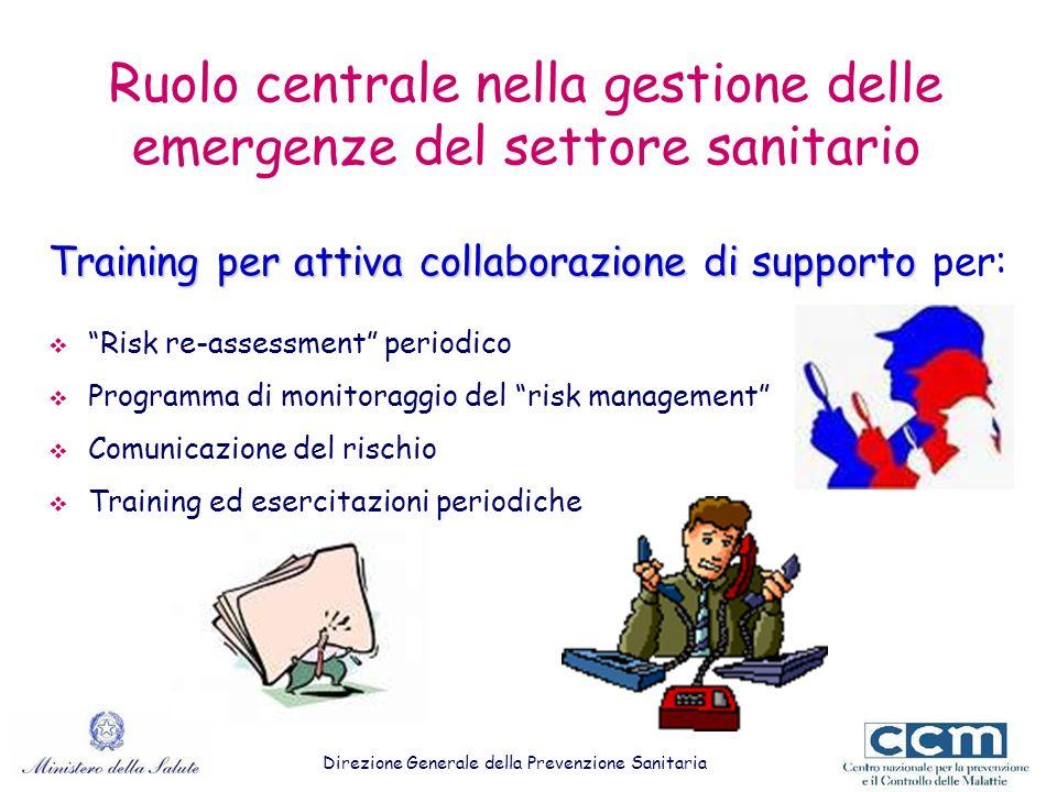 Ruolo centrale nella gestione delle emergenze del settore sanitario