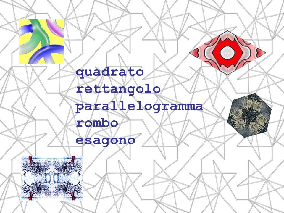 quadrato rettangolo parallelogramma rombo esagono