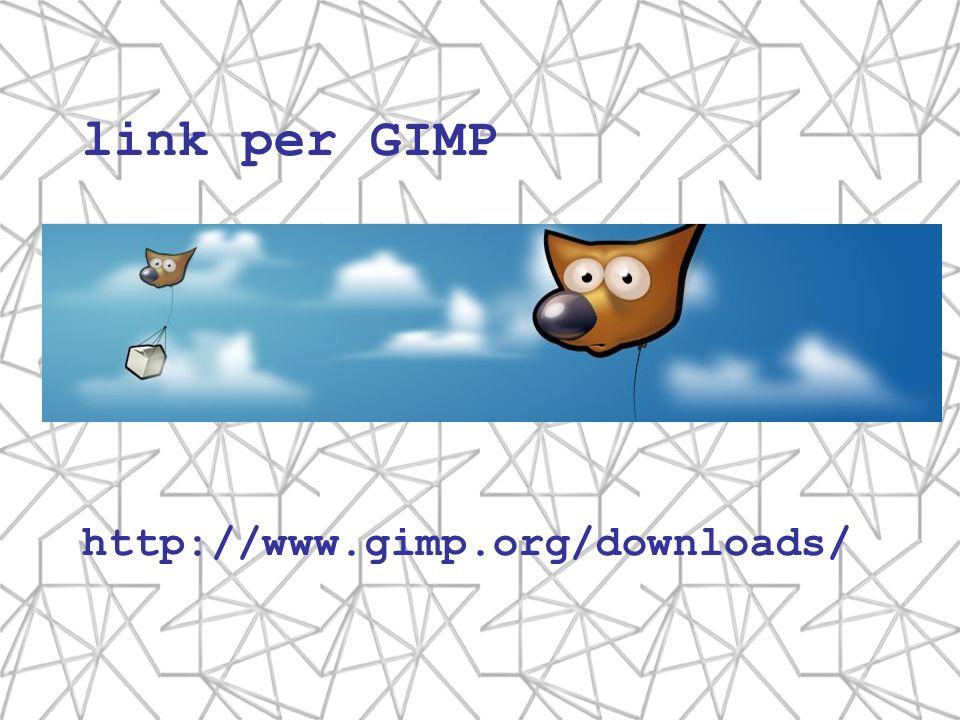 link per GIMP http://www.gimp.org/downloads/