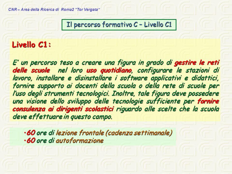 Il percorso formativo C – Livello C1