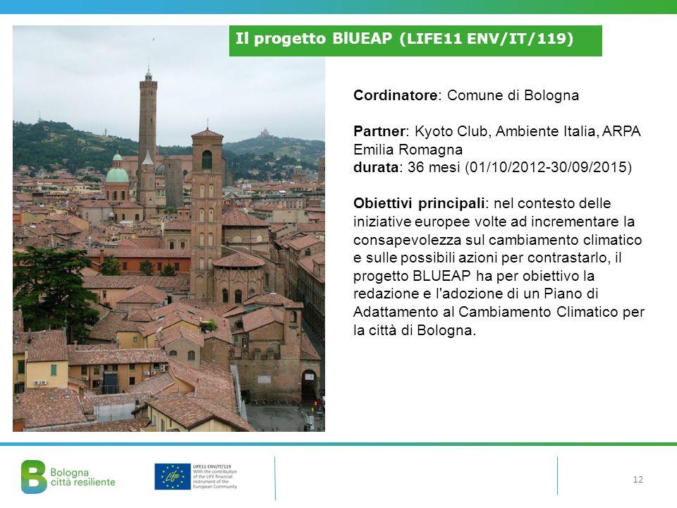 Il progetto BlUEAP (LIFE11 ENV/IT/119)