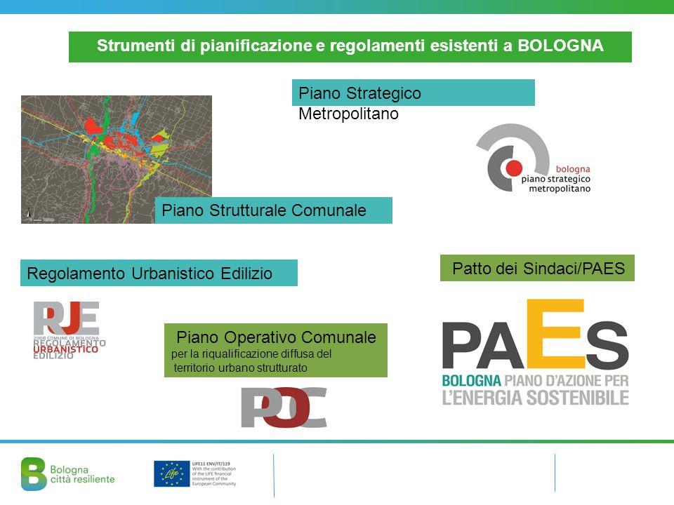 Strumenti di pianificazione e regolamenti esistenti a BOLOGNA