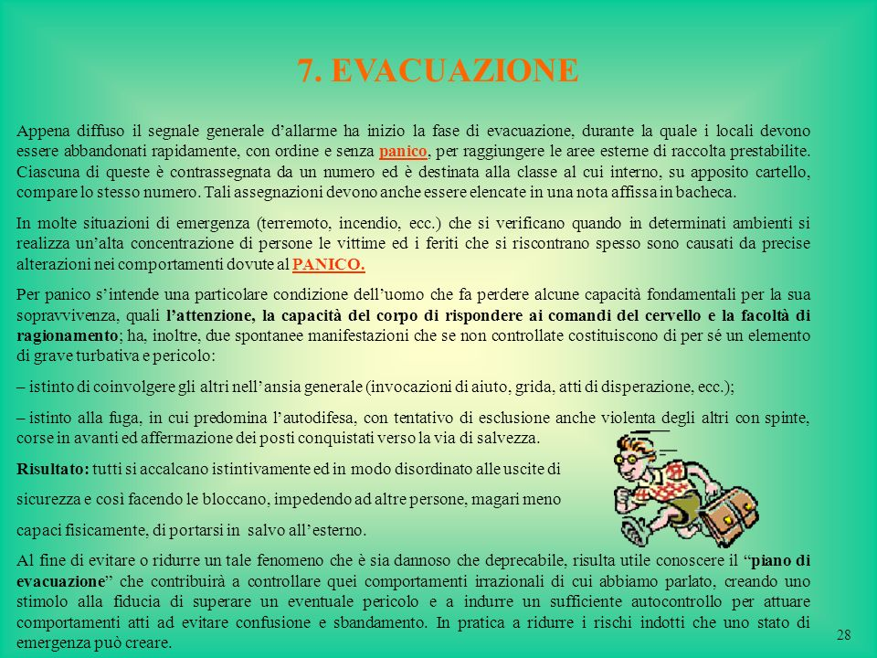 7. EVACUAZIONE