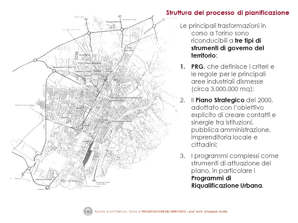 Struttura del processo di pianificazione