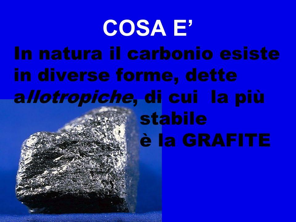 COSA E' In natura il carbonio esiste in diverse forme, dette allotropiche, di cui la più. stabile.