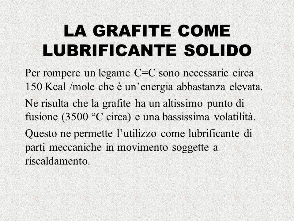 LA GRAFITE COME LUBRIFICANTE SOLIDO