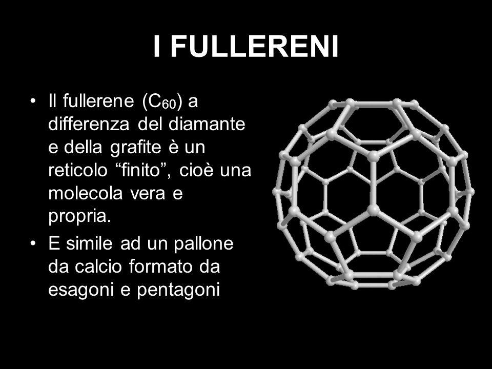 I FULLERENI Il fullerene (C60) a differenza del diamante e della grafite è un reticolo finito , cioè una molecola vera e propria.