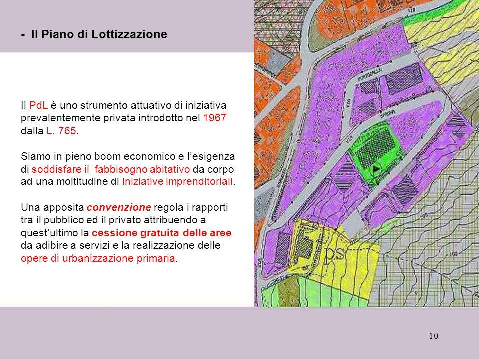 - Il Piano di Lottizzazione