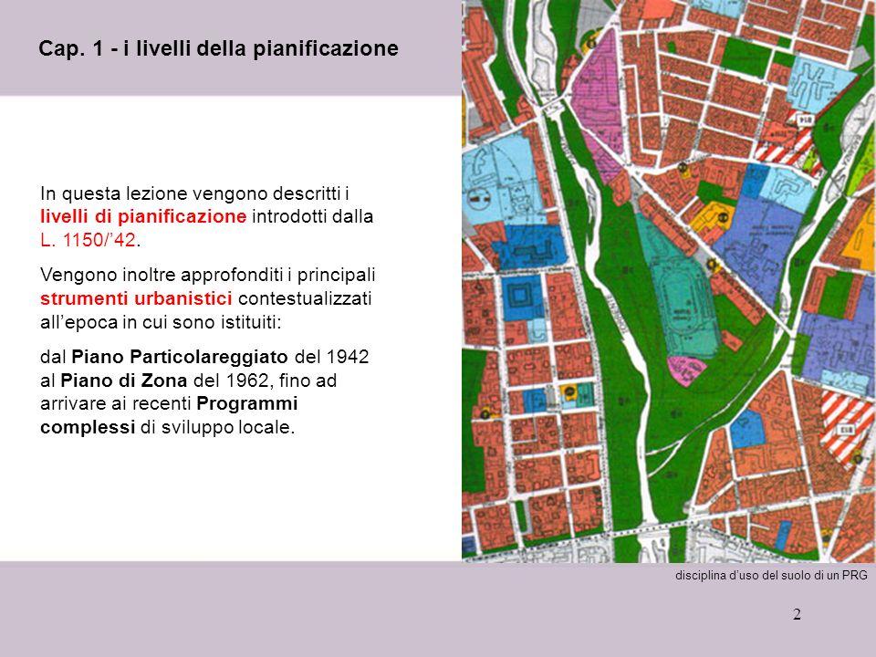 Cap. 1 - i livelli della pianificazione