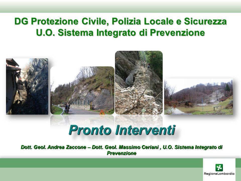Pronto Interventi DG Protezione Civile, Polizia Locale e Sicurezza