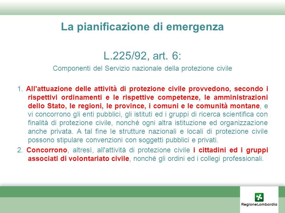 La pianificazione di emergenza