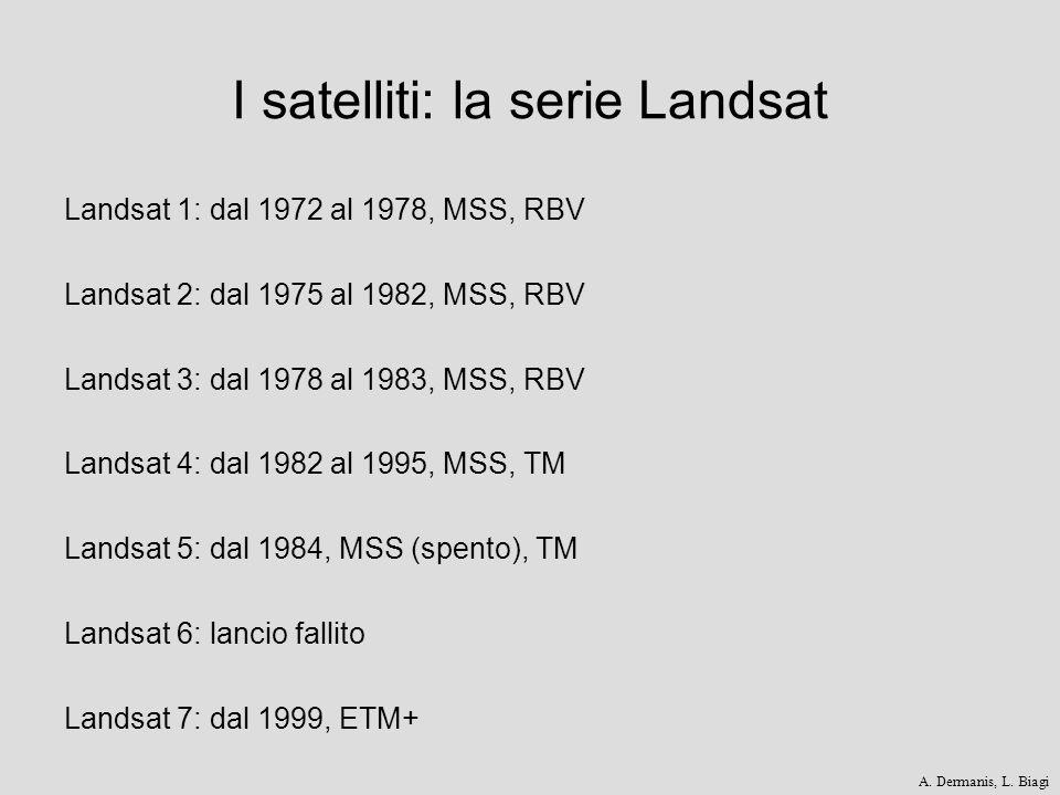 I satelliti: la serie Landsat