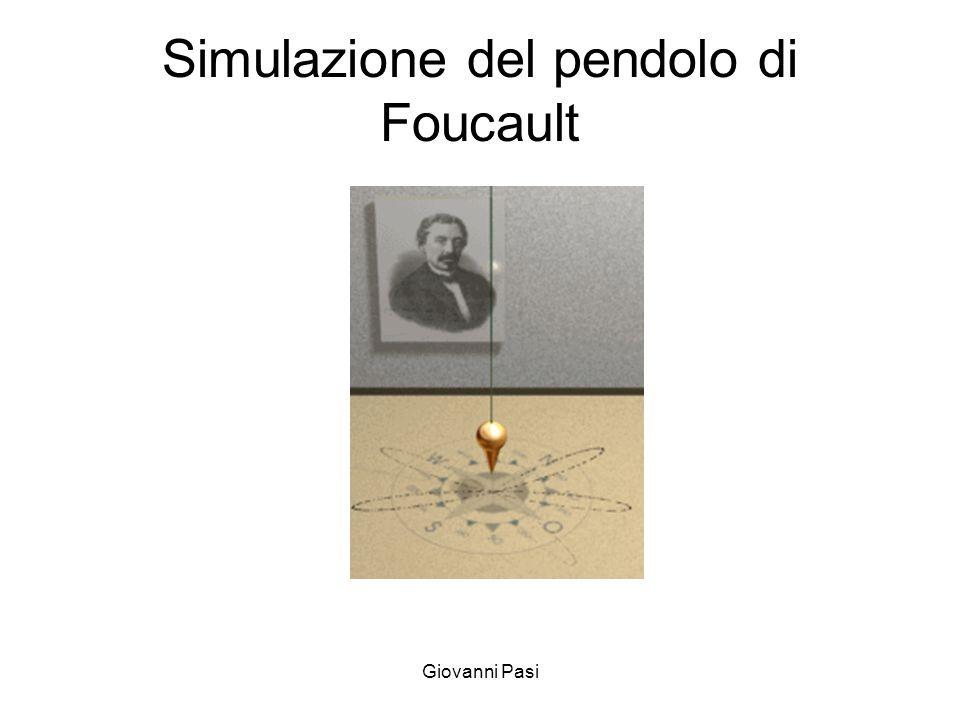 Simulazione del pendolo di Foucault