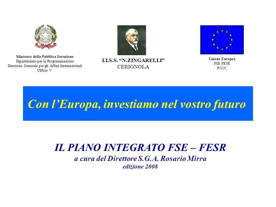 Con l'Europa, investiamo nel vostro futuro