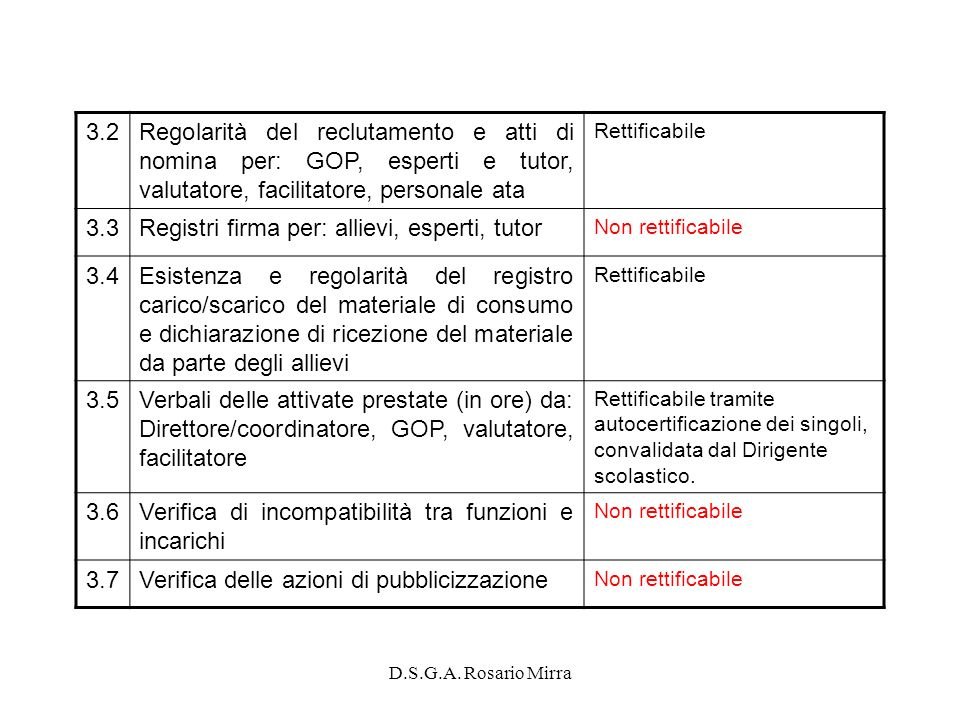 Registri firma per: allievi, esperti, tutor 3.4