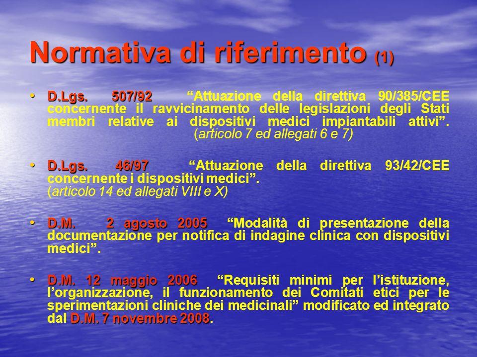 Normativa di riferimento (1)