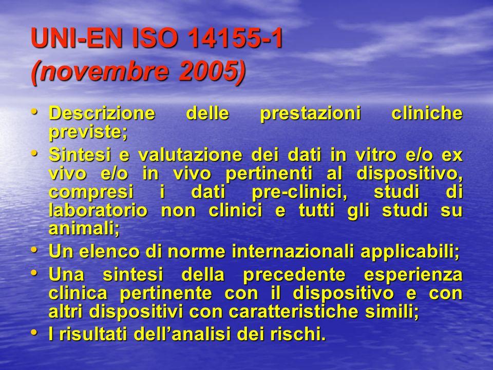 UNI-EN ISO 14155-1 (novembre 2005)