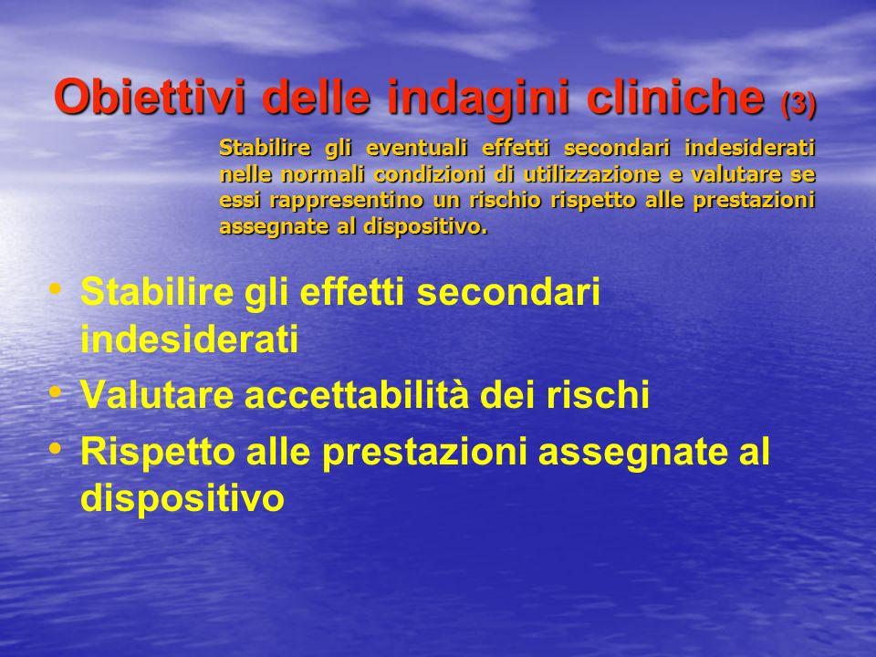 Obiettivi delle indagini cliniche (3)