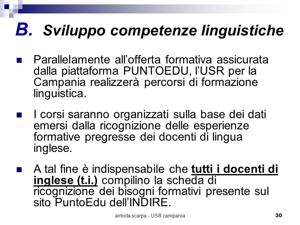 Sviluppo competenze linguistiche