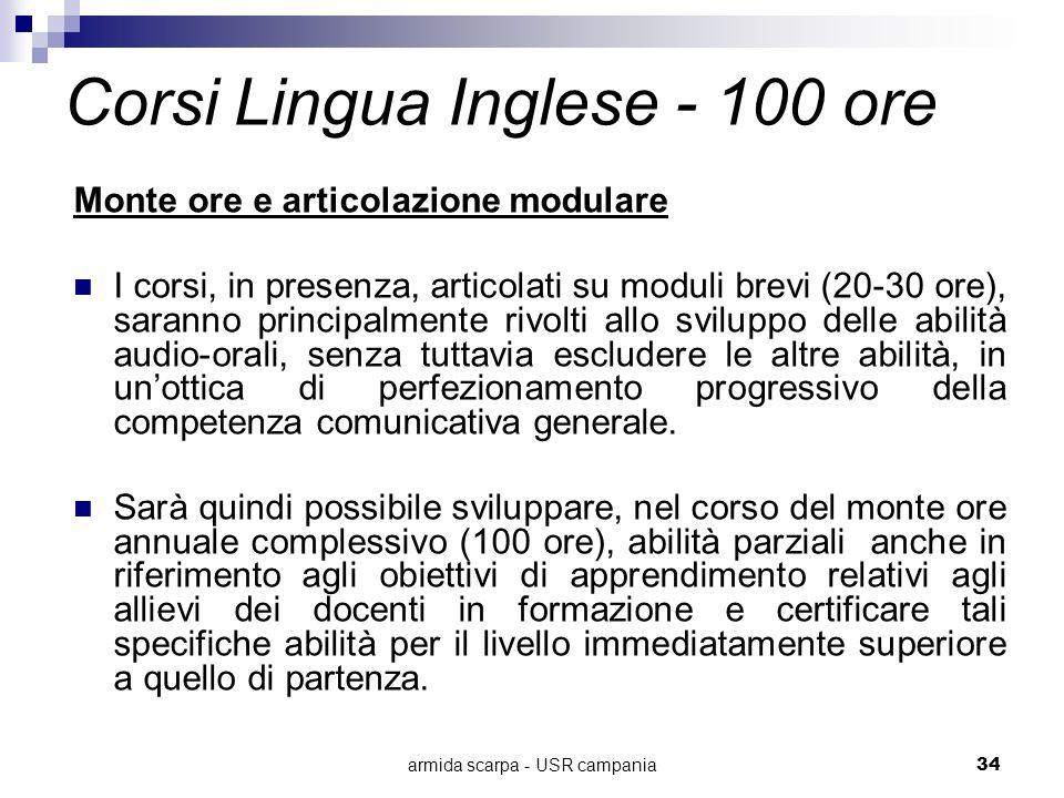 Corsi Lingua Inglese - 100 ore