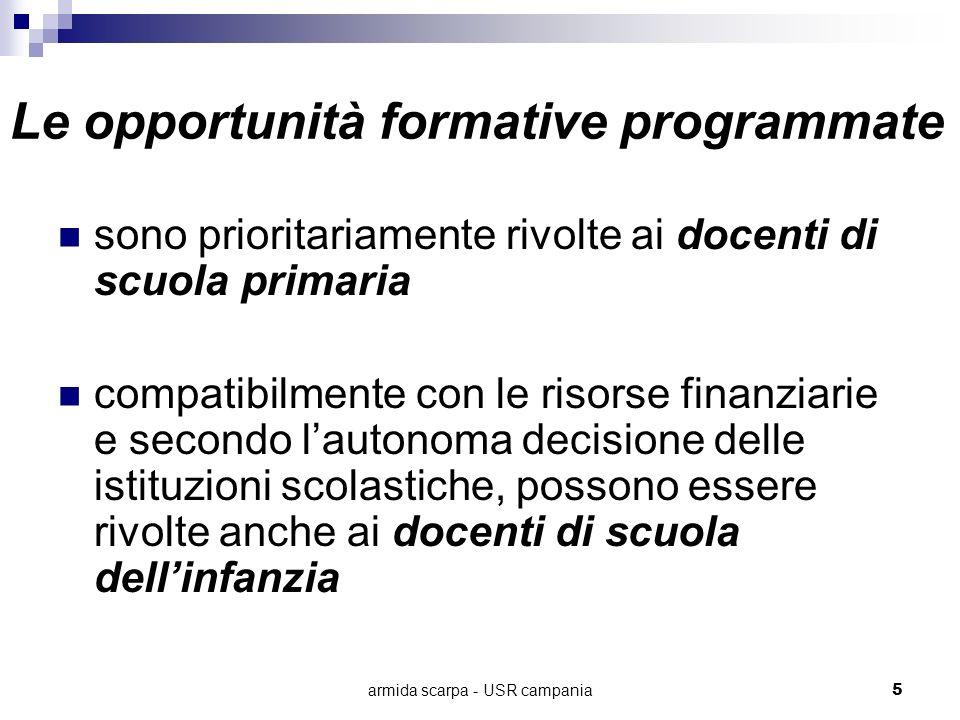 Le opportunità formative programmate