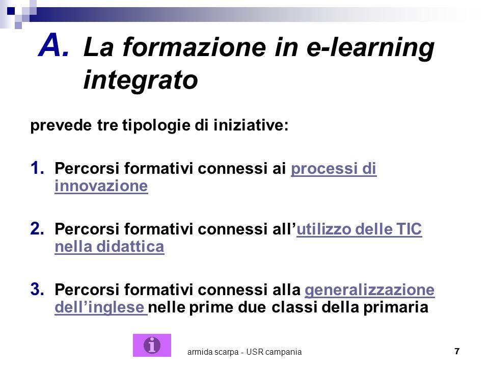 La formazione in e-learning integrato