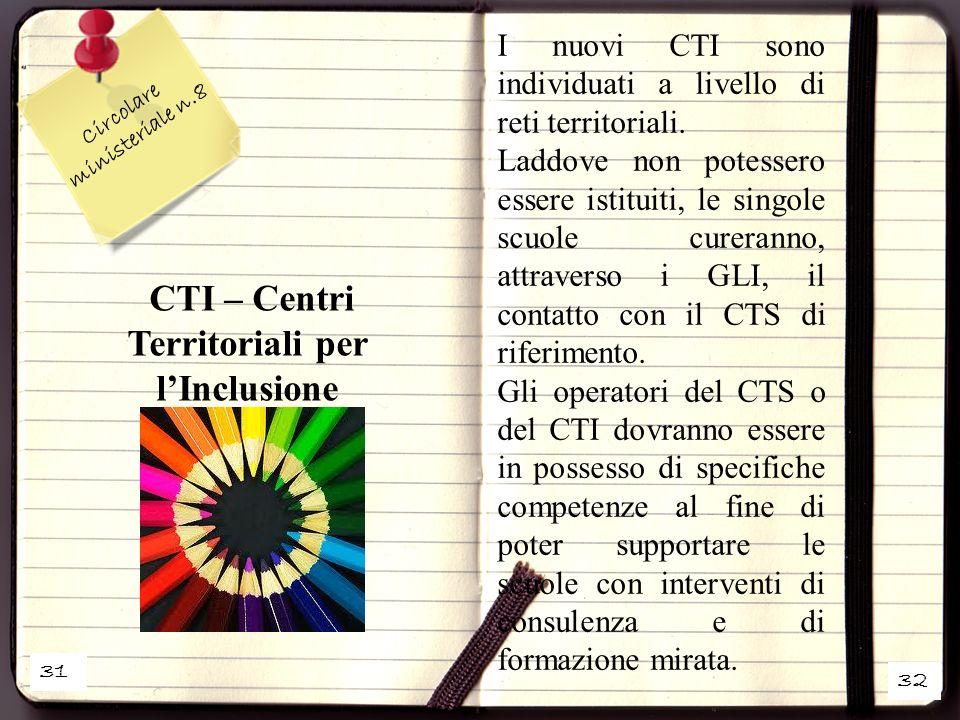 CTI – Centri Territoriali per l'Inclusione