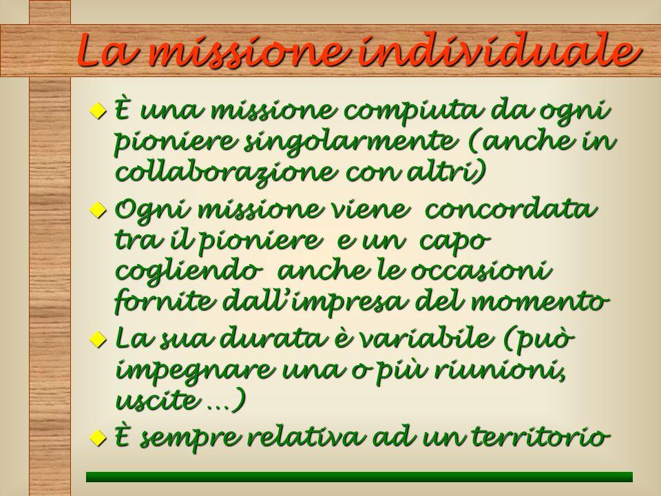 La missione individuale