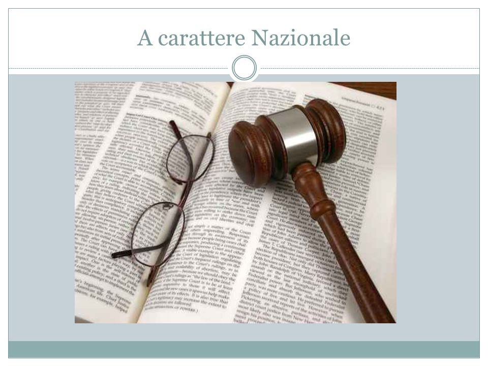 A carattere Nazionale