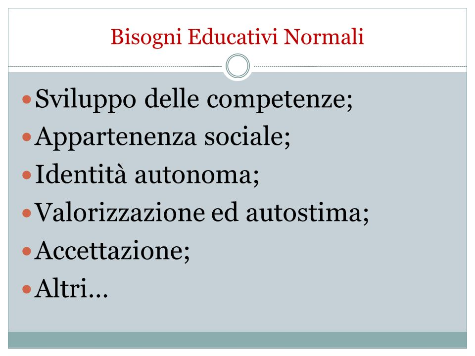 Bisogni Educativi Normali