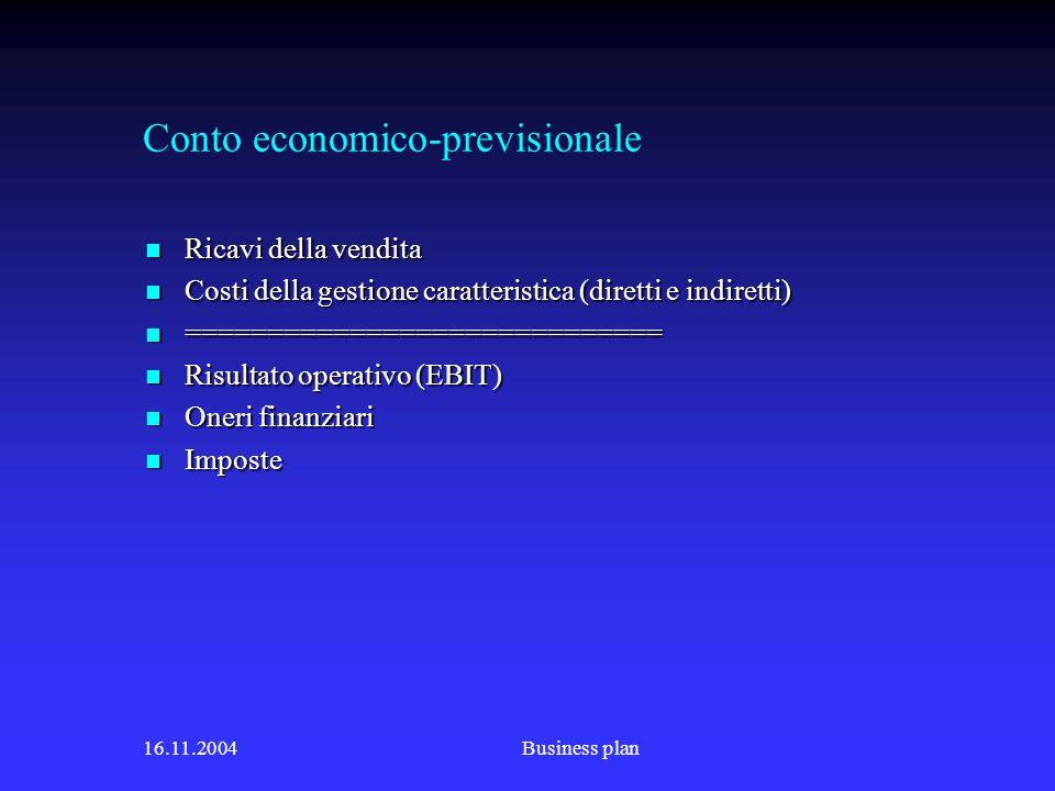 Conto economico-previsionale