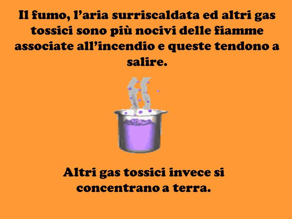 Altri gas tossici invece si concentrano a terra.