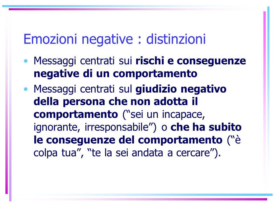 Emozioni negative : distinzioni