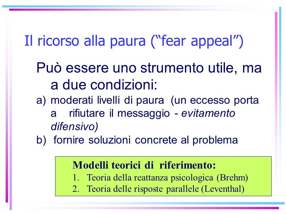 Il ricorso alla paura ( fear appeal )