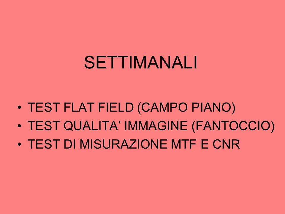 SETTIMANALI TEST FLAT FIELD (CAMPO PIANO)