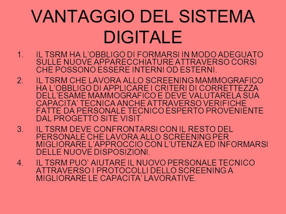 VANTAGGIO DEL SISTEMA DIGITALE