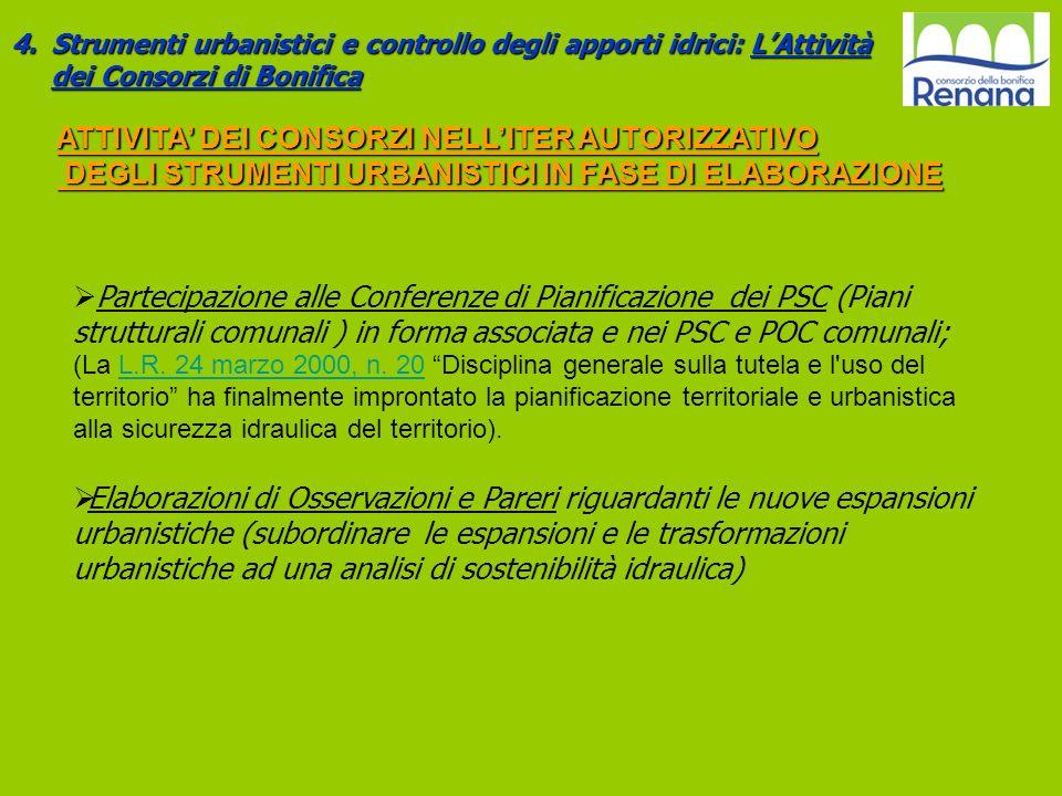 ATTIVITA' DEI CONSORZI NELL'ITER AUTORIZZATIVO