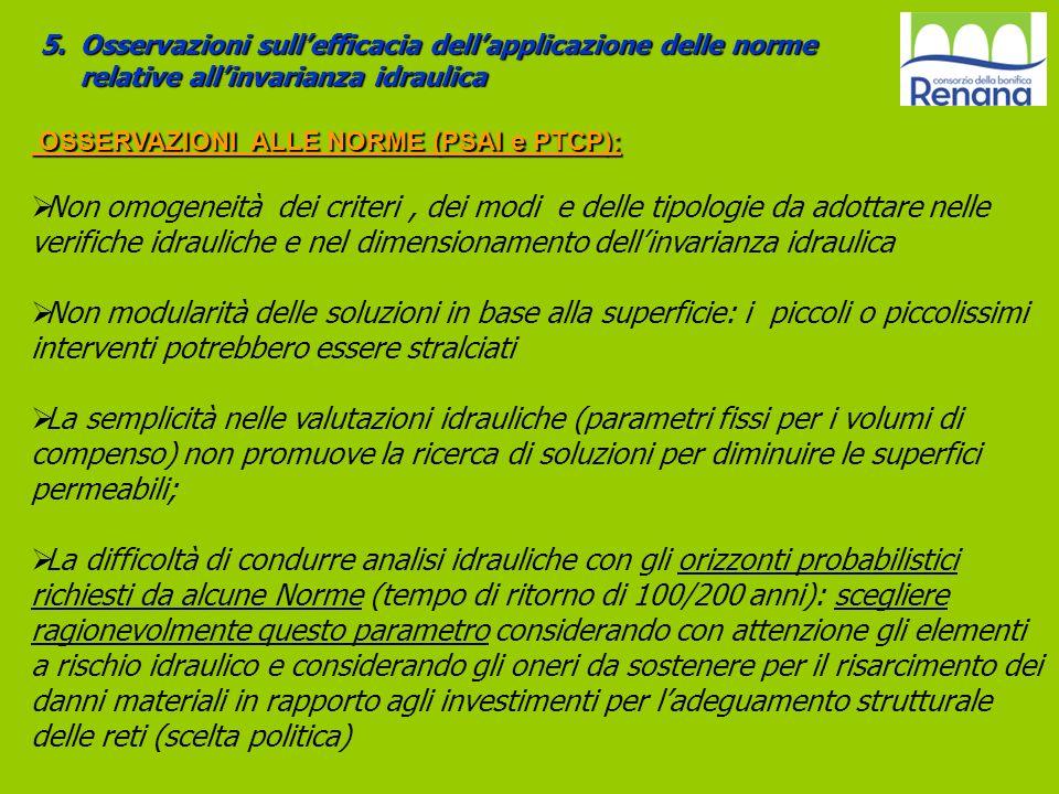 OSSERVAZIONI ALLE NORME (PSAI e PTCP):