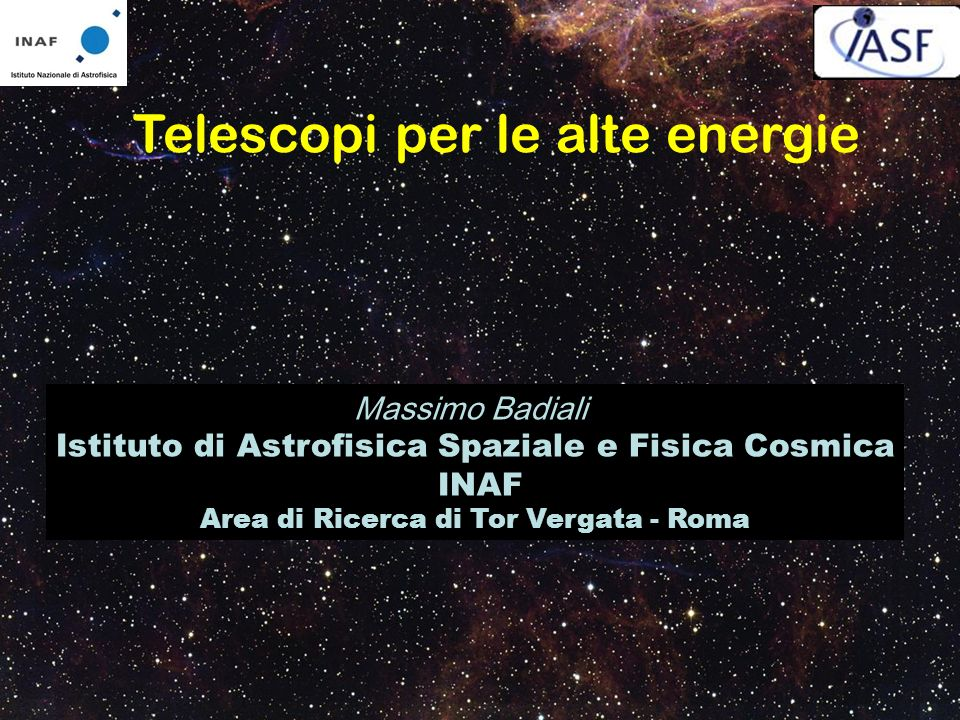 Telescopi per le alte energie