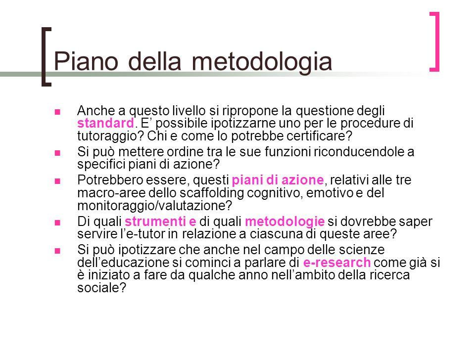 Piano della metodologia