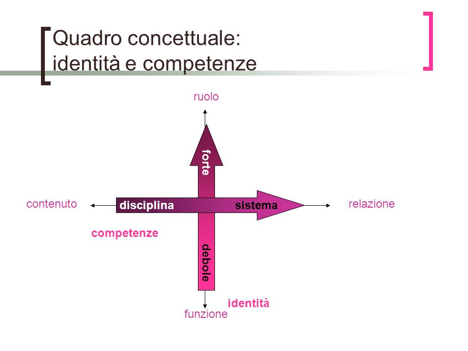 Quadro concettuale: identità e competenze